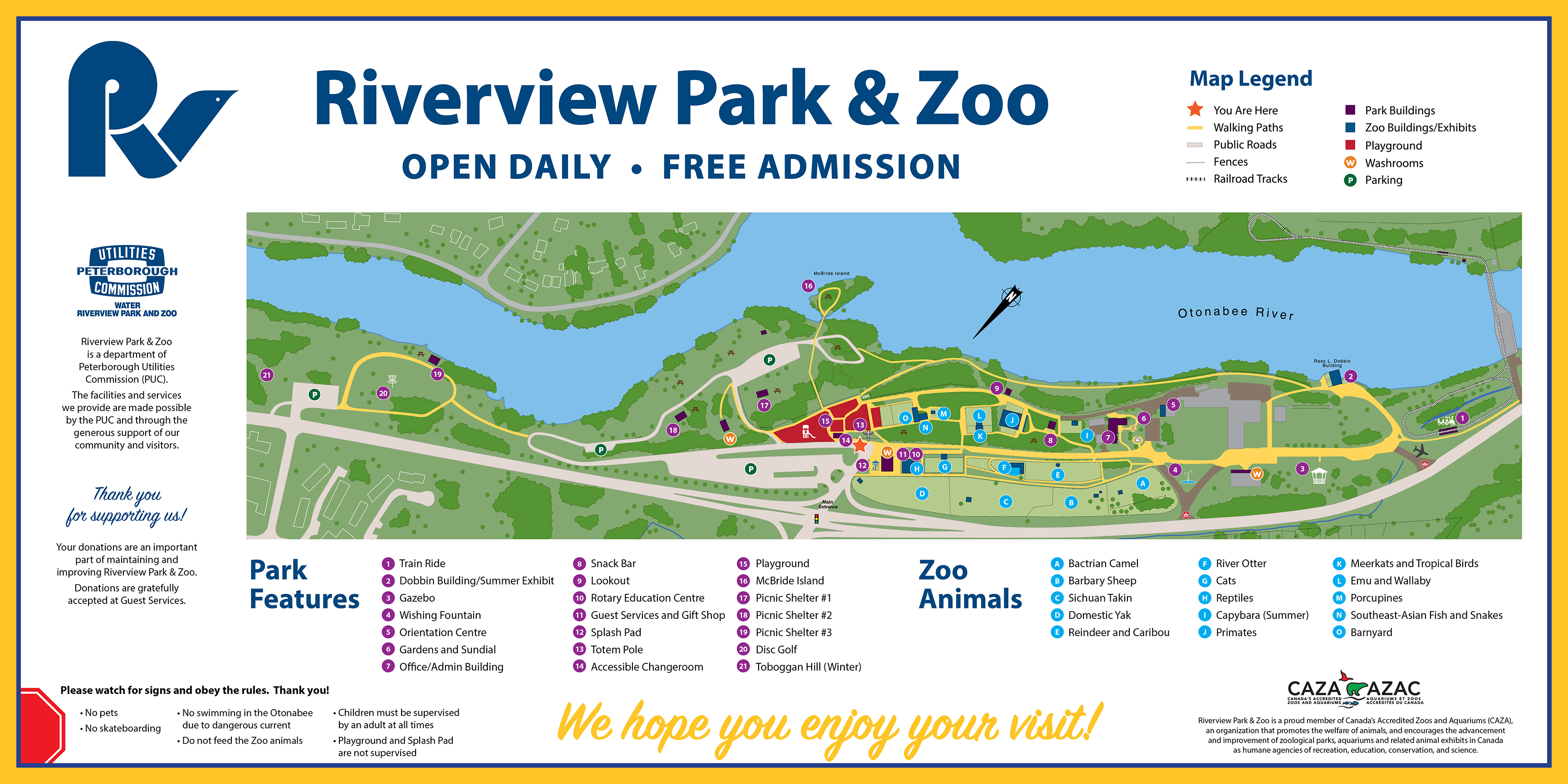 Map of park and zoo