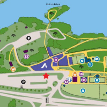 Riverview park and zoo amenities map